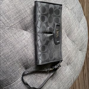 Coach wallet with wristlet strap